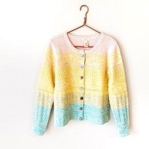 Sundance | Rainbow Colorful Knit Cardigan Sweater